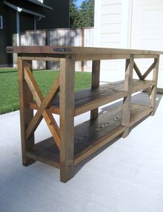 Mexican rustic sofa table