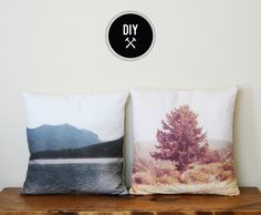 Poppytalk: DIY - Landscape Pillows