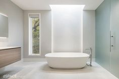 Contemporary Master Bathroom, Skylight, Frosted Glass contemporary