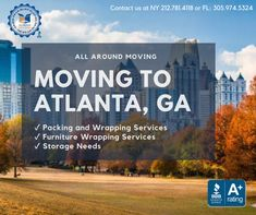 Looking to move to Atlanta from New York? Performing successful residential moves to Atlanta, Georgia is a daily occurance for All Around Moving.    Contact us today at 212.781.4118 to speak to a company representative. Long Distance Moving Companies, Moving Services, Atlanta Georgia, Miami Florida, Nyc, York, How To Plan, New York City