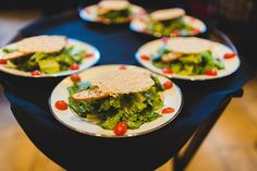 This delicious salad was served for dinner at a Villa Siena reception.