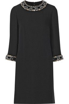 Gucci Embellished silk-cady mini dress | NET-A-PORTER