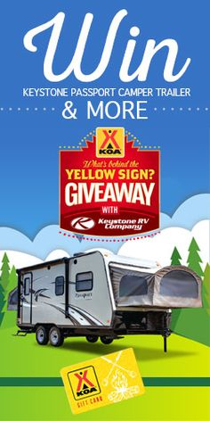 Win a Keystone Passport Camper Trailer Enter daily! You might win this epic #sweepstakes #giveaway from @KOA  found at @Womensfreebies Just click on the photo to take you there to enter! I sure did!