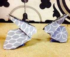 Howling at the moon: Origami Easter Bunny