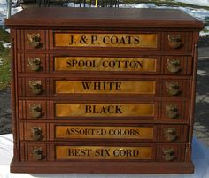 J & P Coats 6 DRAWER
