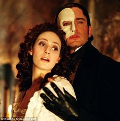 Emmy Rossum and Gerard Butler in the 2004 film of Phantom Of The Opera