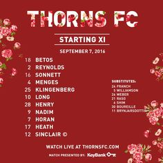 The Portland Thorns (9-3-5, 32 points) will host the Houston Dash (5-8-4, 19…