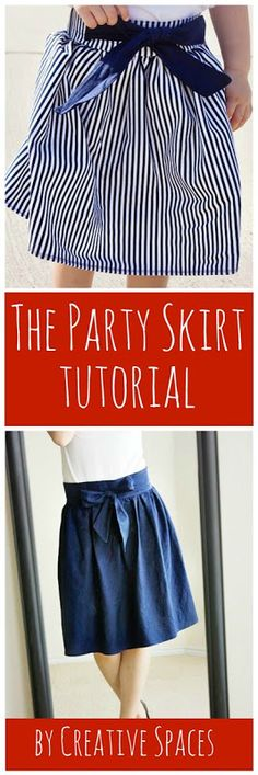 Party Skirt Tutorial by Creative Spaces