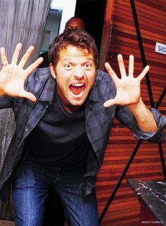 Misha Collins - being silly, it's a 24 hour job.