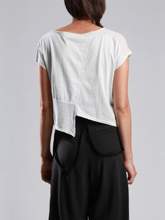 COTTON T-SHIRT COMBINED WITH TRANSPARENCY - JACKETS, JUMPSUITS, DRESSES, TROUSERS, SKIRTS, JERSEY, KNITWEAR, ACCESORIES - Woman -