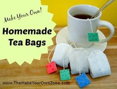 Make your own tea bags and give with a cute mug for a unique homemade gift