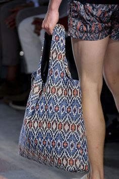Missoni S/S 2013 Menswear Milan Fashion Week    Woven Handbag