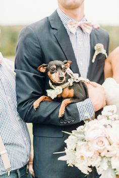 little pup at the party | Justin & Mary #wedding