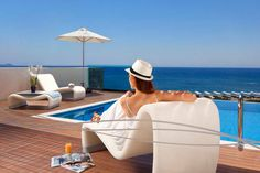 View the photos from the hotel, the restaurants and the exterior of Boutique luxury hotel in Rhodes. Rhodes Hotel, Calming Sounds, Executive Suites, Soothing Colors, Hotel Spa, Private Pool, Front Desk, Hotel Offers, Panama Hat