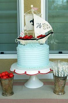 Nautical cake... Julia's bachelorette?