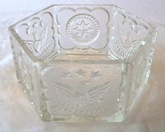 Patriotic Candy Dish By Indiana Depression Glass Indiana Glass Company Star and Eagle Design http://www.amazon.com/dp/B00LF0IEI4/ref=cm_sw_r_pi_dp_qAeowb0EM7XP8