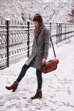 All around my world: alley snow ❄ ️winterific wear ❄ winter o Winter Outfits For School, Winter Outfits For Work, Casual Winter Outfits, Winter Clothes, Snow Outfit, Winter Skirt Outfit, Korean Fashion Winter, Autumn Winter Fashion, Casual Chic