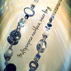 multipurpose necklace shown long