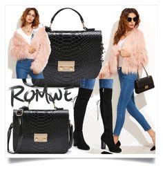 """""""ROMWE 2"""" by ermina-camdzic ❤ liked on Polyvore featuring romwe"""