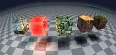 Minecraft blocks by DavidHansson.deviantart.com on @deviantART