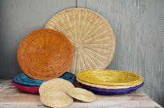 Wicker Plate Holders Woven Wicker Paper Plate Holders Wicker coasters Vintage Picnic Supplies Boho Dishware Summer outdoor & Wicker Plate Holders Woven Wicker Paper Plate Holders Wicker ...