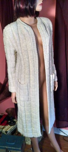 Sale 1970s Glamorous Wool Coat Duster for by TreasuresbytheGulf
