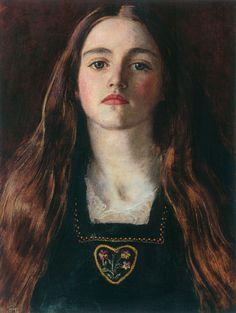 John Everett Millais,Sophie Gray, 1857,oil on paper laid on panel,30.5 x 22.9 cm (12 x 9 in.)framed: 45 x 38 x 4 cm (17 11/16 x 14 15/16 x 1 9/16 in.).Private collection c/o Christie's
