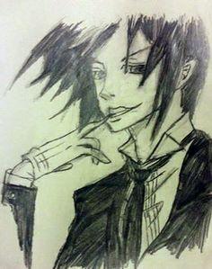 Here is a piece drawn of Sebastian Meachelas of Black Butler.