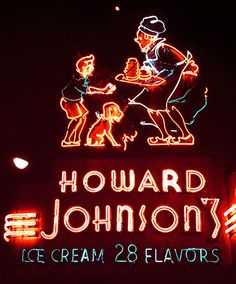 Howard Johnson's Ice Cream in Times Square — June 8, 1985 by Jim in Times Square, via Flickr