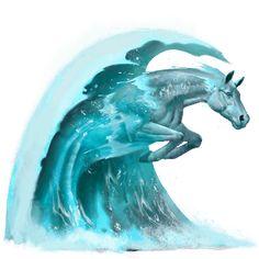 Vlna, Vodní kůň Vlna #15972536 - Howrse