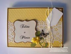 Livro de assinaturas por Eliana Brands: Convites de casamento na caixinha