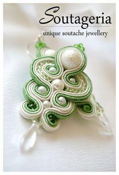 Kolczyki sutasz Green Pearl