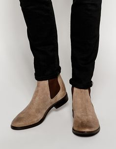 $99, Asos Brand Chelsea Boots In Suede. Sold by Asos. Click for more info: https://lookastic.com/men/shop_items/289091/redirect