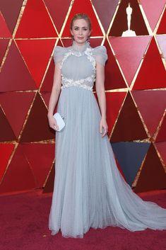 Emily Blunt in Schiaparelli Haute Couture   #Oscars 2018