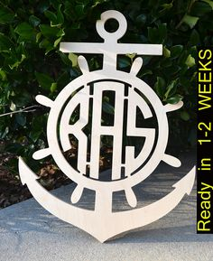 Items similar to Anchor Wooden Monogram - 3 Letter Monogram- Nautical Monogram- Nursery Monogram- Boy Monogram, Nautical Theme, Beach House Decor, Anchor on Etsy Anchor Nursery, Nursery Monogram, Boy Nautical Nursery, Nursery Boy, Anchor Painting, Monogram Painting, Wooden Monogram, Monogram Letters, Anchor Monogram