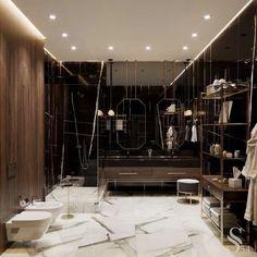 The Insider Secrets of Lovely Contemporary Bathroom Designs Discovered - Pecansthomedecor Contemporary Bathroom Designs, Bathroom Design Luxury, Vanity Design, Shower Floor, Glass Shower, Interior Decorating, House Design, Home, Marble Wood