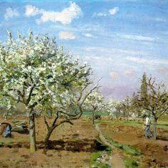 Pissarro, Le verger, 1872
