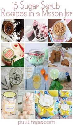 Mason Jar Crafts - 15 DIY Sugar Scrub Recipes in a Mason Jar | DIY Tutorials | #crafts #masonjars via Put it in a Jar (putitinajar.com)