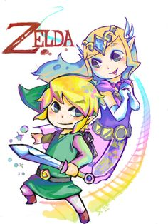 Toon Link and Zelda