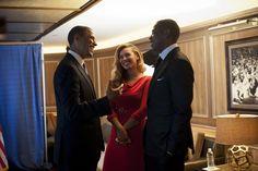 Beyoncé con Barack Obama, 2012