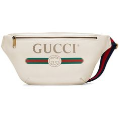 Gucci Gucci Print leather belt bag ($1,290) ❤ liked on Polyvore featuring men's fashion, men's bags, mens leather bag, gucci mens bag and mens leather waist bags