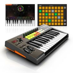 Novation Launchkey 25 Label: Novation  Format: Effects Unit £83.33 (£99.99 inc VAT)  Fully integrated instrument controller for Mac, PC & iPad InControl technology instantly maps the hardware to all major music software 16 velocity-sensitive multi-colour launch pads – trigger loops and play drums, also launch clips and scenes in Ableton Live Synth-styled keyboard with over 34 hardware controls
