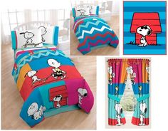 KIDS GIRLS BOYS PEANUTS CHARLIE SNOOPY BEDDING BED IN A BAG / COMFORTER SET