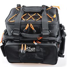 Cheap bag for fishing, Buy Quality fishing tackle bag directly from China tackle bag Suppliers: Black Multifunctional Fishing Tackle Bag 2 Bags Bolsa De Pesca Waterproof Fly Fishing Bag Outdoor Bag For Fishing Fishing Tackle Bags, Fishing Tools, Fishing Backpack, Fish In A Bag, Hiking Bag, Waterproof Backpack, Best Fishing, Big Bags, Camping