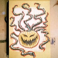 #Drawlloween and #Inktober #challenge - day 4th: #tentacletuesday  #drawlloween2016 #inktober2016 #pumpkin #evilpumpkin #ink #inked #inkpen #tentacles #doodle #doodleoftheday #drawing #drawingoftheday #potd #photooftheday #picoftheday #aesthetic #aesthetics #tentacle #sketchbook #quickdrawing #quickdraw #illustration #illustrator #inkwork