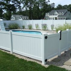 Summertime has never looked so good (or safe) with a gated pool surrounded by durable vinyl fencing for privacy.