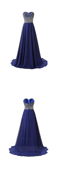Elegant Navy Blue A Line Strapless Chiffon Prom Dresses Dresses Military Ball Dresses With Beading - - Inexpensive Bridesmaid Dresses, Affordable Prom Dresses, Cheap Prom Dresses, Dresses Dresses, Cheap Wedding Dress, Elegant Dresses, Homecoming Dresses, Dresses For Sale, Evening Dresses