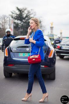 Paris Fashion Week FW 2014 Street Style: Xenia Sobchak