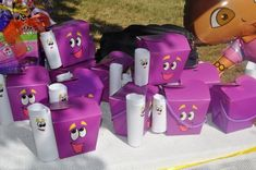 Party favors i made for my baby girls 2nd Birthday Dora backpack party favors