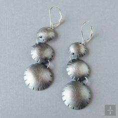 Dangle Flower Earrings. Handmade sterling silver. Jackie Jordan Jewelry